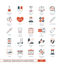 Medical and Health Care Icons Set 03 vector image vector image