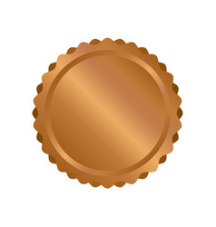modern bronze circle metal badges labels and vector image vector image