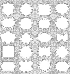 Ornate Label Frames vector image