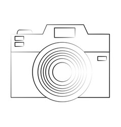 photographic camera icon image vector image vector image