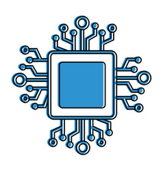 processor circuit isolated icon vector image