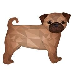 Pug dog animal icon vector