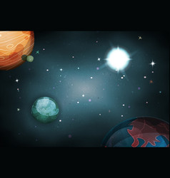 scifi space background for ui game vector image