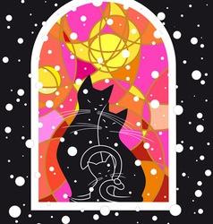 Snowy Evening vector image