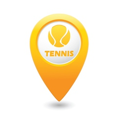 Tennis map pointer yellow vector