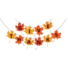 Thanksgiving banner vector