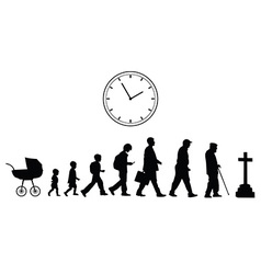 Time passing concept vector image