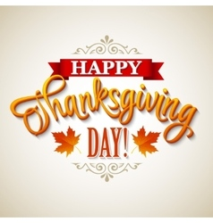 Typographic Thanksgiving Design vector image vector image