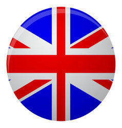 United Kingdom of Great Britain flag icon flat vector image vector image