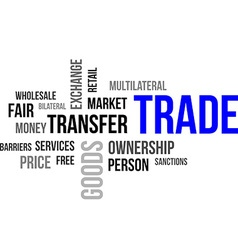 Word cloud trade vector