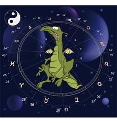 Zodiac signs a dragon vector image