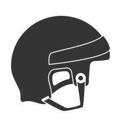 Helmet hockey goalkeeper vector