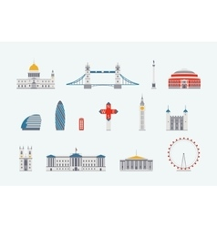 London historical and modern building vector image