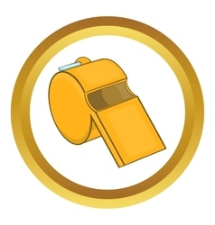 Sports whistle icon vector