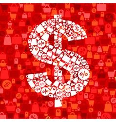 Sale dollar vector image