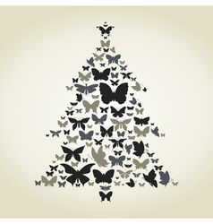 Butterfly a pine vector image