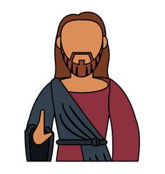 Jesus christ catholic blessed spirituality vector