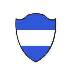 isolated flag of honduras vector image