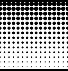 Seamless pattern circles halftone transition vector