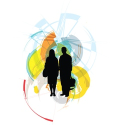 Fashion couple vector