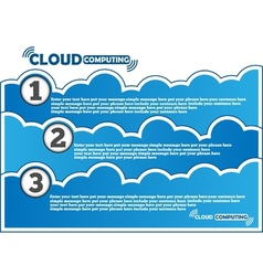Cloud computing background vector
