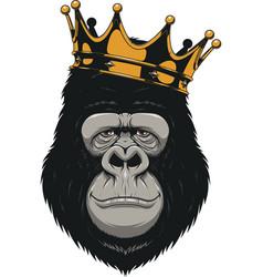 funny gorilla head vector image
