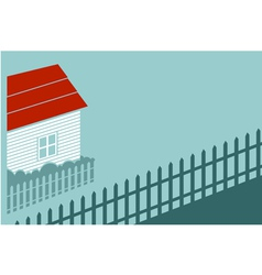 Private house in the country vector