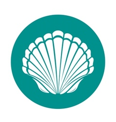 Scallop sea shell vector image