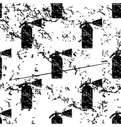 Fire extinguisher pattern grunge monochrome vector image
