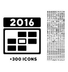 2016 date icon vector