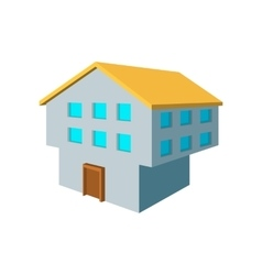 Two-storey house cartoon icon vector