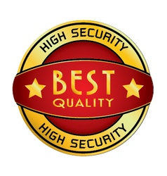 High security best quality logo isolated on white vector