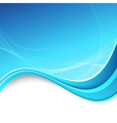 Abstracrt swoosh border lines blue background vector