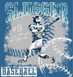 baseball slugger vector image