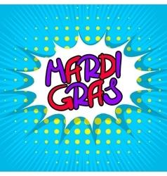 Blue lettering mardi gras vector