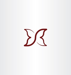 butterfly clip art logo icon vector image