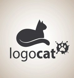 cat logo 6 vector image vector image