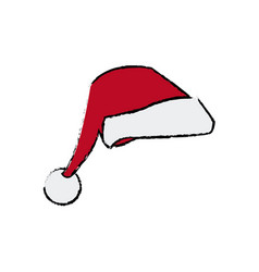 Christmas hat clothing accessory decoration vector