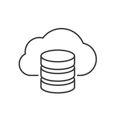 cloud server outline icon vector image vector image
