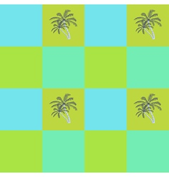 Coconut palm trees seamless pattern background vector image