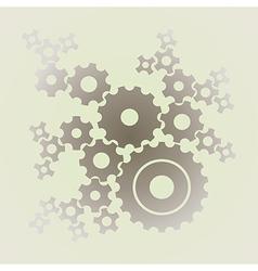 cogs gears background vector image