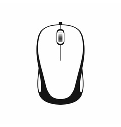 Computer mouse icon in simple style vector image
