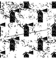 Fire extinguisher pattern grunge monochrome vector