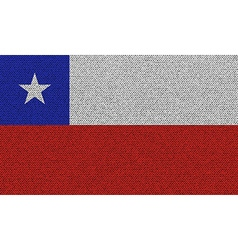 Flags Chile on denim texture vector image vector image