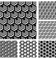 Geometric patterns set vector