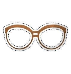 Glasses vintage frameicon image vector
