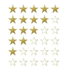 Golden Star set vector image