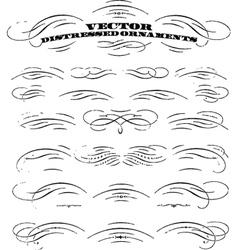 Grunge signatures vector