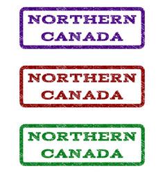 Northern canada watermark stamp vector