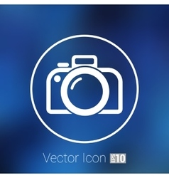 photo camera icon symbol photography vector image